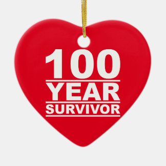 100 year survivor ceramic ornament