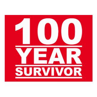 100 year survivor postcard