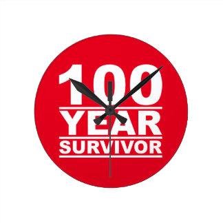 100 year survivor round clock