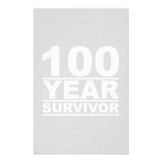 100 year survivor stationery