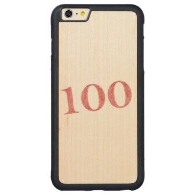 100 years anniversary carved® maple iPhone 6 plus bumper
