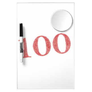 100 years anniversary dry erase board with mirror