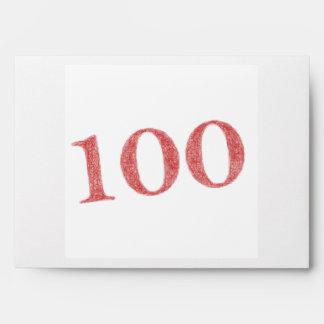 100 years anniversary envelope