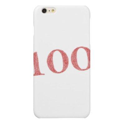 100 years anniversary glossy iPhone 6 plus case