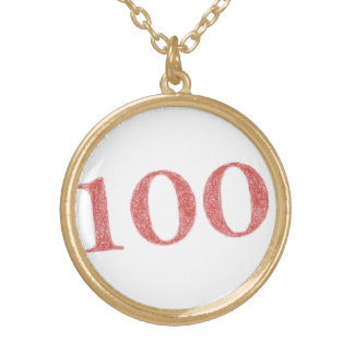 100 years anniversary gold plated necklace