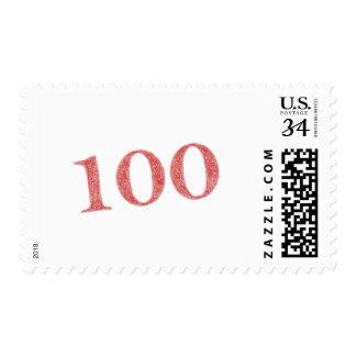 100 years anniversary postage