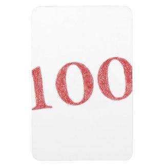 100 years anniversary rectangular photo magnet