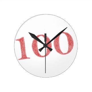 100 years anniversary round clock