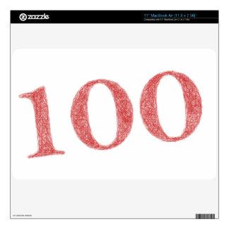 "100 years anniversary skins for 11"" MacBook air"