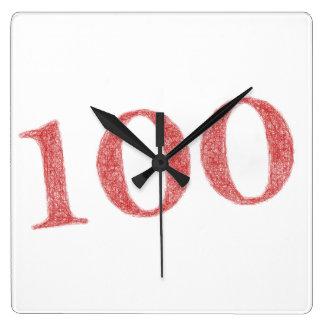 100 years anniversary square wall clock