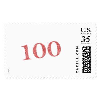 100 years anniversary stamp