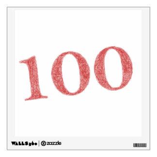 100 years anniversary wall decal