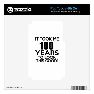 100 years birthday designs iPod touch 4G decals