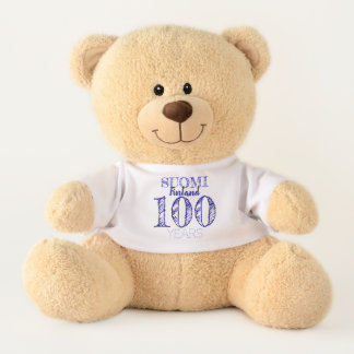 100 Years Centenary OF Finland's Indipendence day Teddy Bear