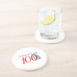 100 years of being awesome beverage coaster