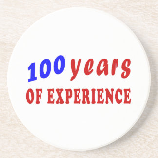100 years of experience beverage coasters