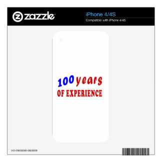 100 years of experience iPhone 4 decals