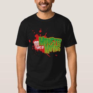 100 Years Of Monster Movies Tee Shirts