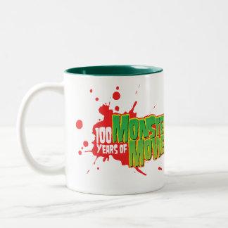 100 Years Of Monster Movies Two-Tone Coffee Mug