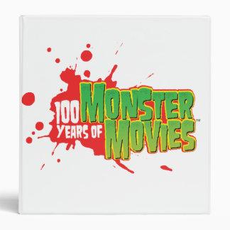 100 Years Of Monster Movies Vinyl Binder