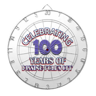 100 years of raising hell dartboard with darts