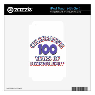 100 years of raising hell iPod touch 4G skins