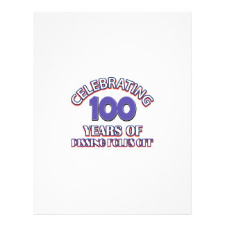 100 years of raising hell letterhead