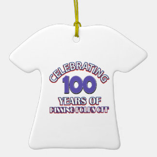 100 years of raising hell Double-Sided T-Shirt ceramic christmas ornament