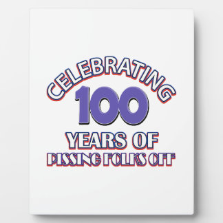 100 years of raising hell plaque