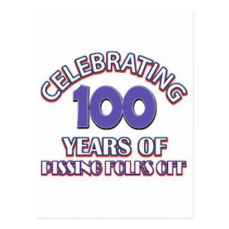 100 years of raising hell postcard