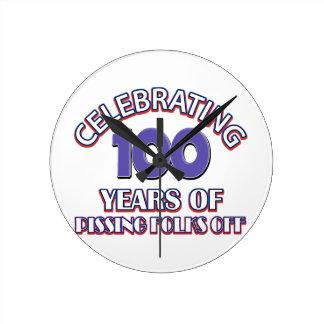 100 years of raising hell round clock