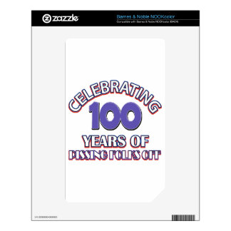 100 years of raising hell skin for NOOK color