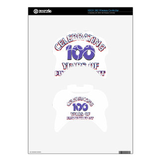 100 years of raising hell xbox 360 controller decal