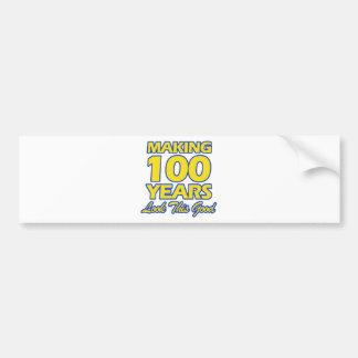 100 YEARS OLD BIRTHDAY DESIGNS BUMPER STICKER