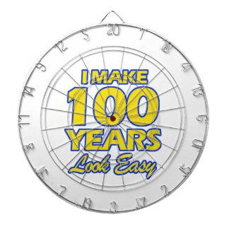 100 YEARS OLD BIRTHDAY DESIGNS DART BOARD