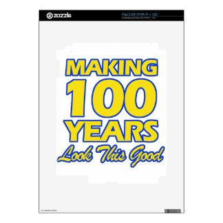 100 YEARS OLD BIRTHDAY DESIGNS iPad 2 SKIN