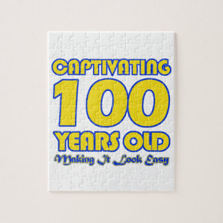 100 YEARS OLD BIRTHDAY DESIGNS JIGSAW PUZZLE