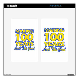 100 YEARS OLD BIRTHDAY DESIGNS KINDLE FIRE DECALS