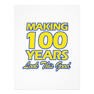 100 YEARS OLD BIRTHDAY DESIGNS LETTERHEAD