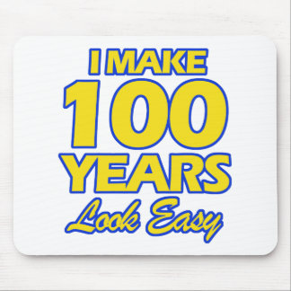 100 YEARS OLD BIRTHDAY DESIGNS MOUSE PAD