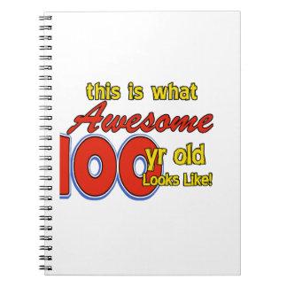 100 YEARS OLD BIRTHDAY DESIGNS NOTEBOOKS