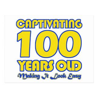 100 YEARS OLD BIRTHDAY DESIGNS POSTCARD