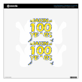 100 YEARS OLD BIRTHDAY DESIGNS PS3 CONTROLLER DECAL