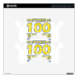 100 YEARS OLD BIRTHDAY DESIGNS PS3 CONTROLLER SKINS