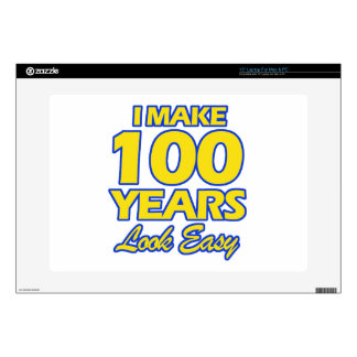 100 YEARS OLD BIRTHDAY DESIGNS LAPTOP DECAL