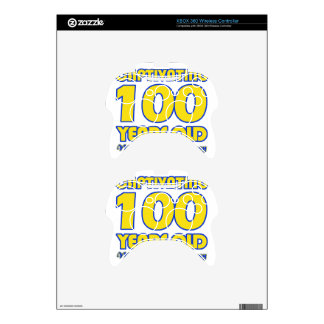 100 YEARS OLD BIRTHDAY DESIGNS XBOX 360 CONTROLLER SKIN