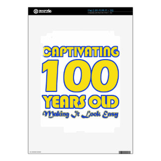 100 YEARS OLD BIRTHDAY DESIGNS SKINS FOR iPad 2