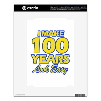 100 YEARS OLD BIRTHDAY DESIGNS DECAL FOR NOOK