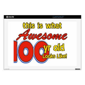 100 YEARS OLD BIRTHDAY DESIGNS LAPTOP SKIN