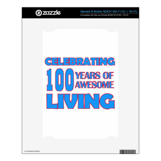 100 years old birthday designs NOOK decal